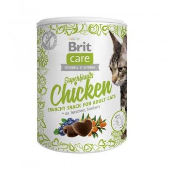Brit / Брит Care лакомство д/кошек Superfruits Chicken Суперфрутс с курицей д/взр.кош., 100 гр