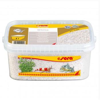 Sera / Сера грунт натуральный для аквариума Gravel White (Белый) 1-3 мм. 3 л.