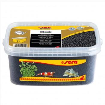 Sera / Сера грунт для аквариума Gravel Black (Черный) 2-3 мм. 3 л.