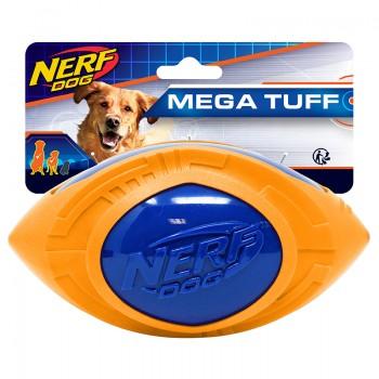 """Nerf / Нёрф Мяч для регби из термопластичной резины, 18 см (серия """"Мегатон""""), (синий/оранжевый)"""