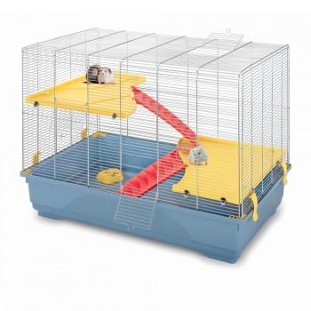 Imac / Имак клетка д/грызунов RAT 80 MID, пепельно-синий, 80х48,5х63 см