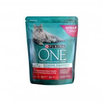 Purina One / Пурина Ван сухой корм д/кошек стерил говядина, пшеница, 750 гр