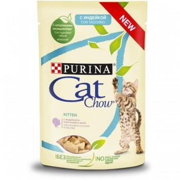 Cat Chow / Кэт Чоу KITTEN для котят Индейка Кабачок 85 гр