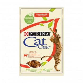 Cat Chow / Кэт Чоу ADULT для взрослыйх кошек Говядина Баклажан 85 гр