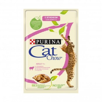 Cat Chow / Кэт Чоу ADULT для взрослых кошек Ягненок зел. фасоль 85 гр