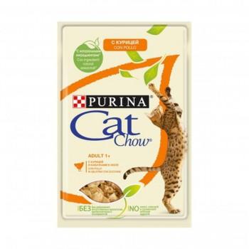 Cat Chow / Кэт Чоу ADULT для взрослыйх кошек Курица Кабачок 85 гр