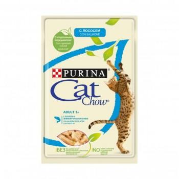 Cat Chow / Кэт Чоу ADULT для взрослых кошек Лосось зел. фасоль 85 гр