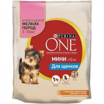 "Purina One / Пурина Оне ""Мини Puppy"" сухой для щенков Курица 600 гр"