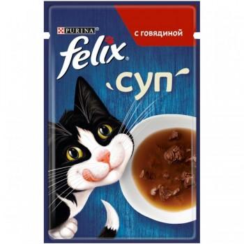 Felix / Феликс СУП для кошек Говядина, 48 гр