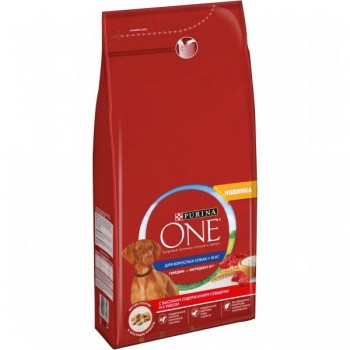Purina One / Пурина Оне для собак средних и крупных пород Говядина Рис 3,8 кг