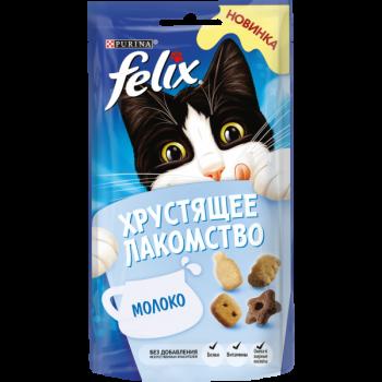 Felix / Феликс Хрустящее Лакомство сухой корм д/к молоко, 60 гр