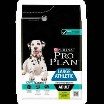 """Pro Plan / Про План """"Adult Large Athletic Sensitive Digestion"""" сухой для взрослых собак крупных пород с атлетическим телосложением с чувствительным пищеварением с комплексом OPTIDIGEST с ягненком и рисом 3 кг"""
