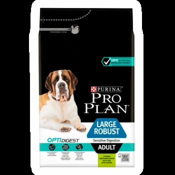 """Pro Plan / Про План """"Adult Large Robus Sensitive Digestiont"""" сухой для взрослых собак крупных пород с мощным телосложением с чувствительным пищеварением с комплексом OPTIDIGEST с ягненком и рисом 3 кг"""