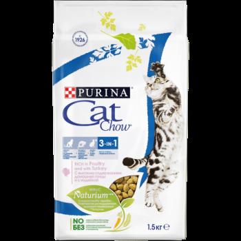 """Cat Chow / Кэт Чоу """"FELINE"""" сухой для Кошек 3 в 1, 7 кг"""