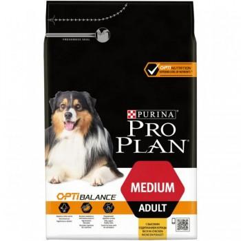 """Pro Plan / Про План """"Adult Medium"""" с комплексом OPTIBALANCE сухой для собак средних пород 10 - 25 кг Курица 3 кг"""