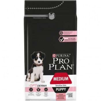 """Pro Plan / Про План """"Puppy Medium Sensitive Skin"""" с комплексом OPTIDERMA сухой для щенков средних пород 10 - 25 кг с чувствительной кожей Лосось 1,5 кг"""