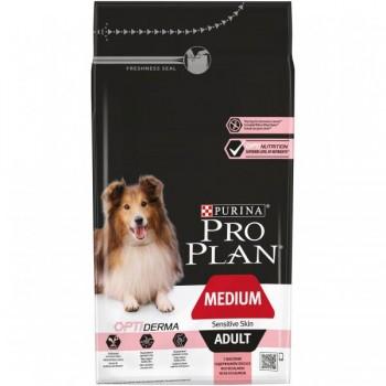 """Pro Plan / Про План """"Adult Medium Sensitive Skin"""" с комплексом OPTIDERMA сухой для собак средних пород 10 - 25 кг с чувствительной кожей Лосось 1,5 кг"""