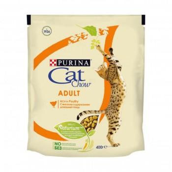 """Cat Chow / Кэт Чоу """"Adult"""" сухой для Кошек Домашняя Птица 400 гр"""