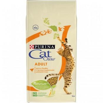 """Cat Chow / Кэт Чоу """"Adult"""" сухой для Кошек Птица 15 кг"""