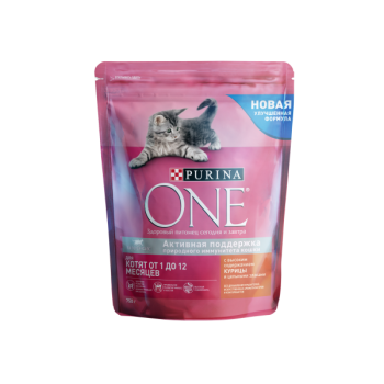 Purina One / Пурина Ван сухой корм д/котят курица,злаки, 750 гр