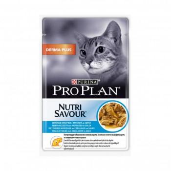 """Pro Plan / Про План """"Derma +"""" консервы для кошек Треска соус 85 гр"""