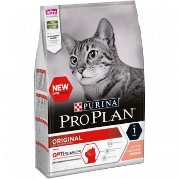 """Pro Plan / Про План """"Adult"""" ORIGINAL с комплексом OPTISENSES сухой для кошек Лосось 3 кг"""