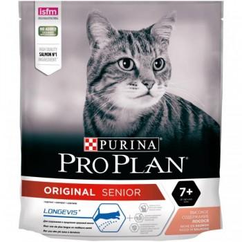 """Pro Plan / Про План """"Adult"""" сухой для кошек старше 7 лет Лосось 400 гр"""