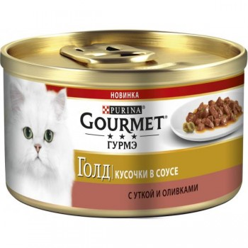 Gourmet Gold / Гоурмет Голд Суфле Утка Оливки 85 гр