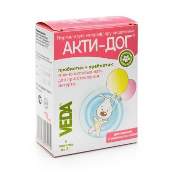 Veda / Веда АКТИ-ДОГ Функциональный корм д/щенков и маленьких собак, 5 пакетов по 8 гр