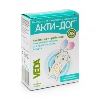 Veda / Веда АКТИ-ДОГ Функциональный корм д/средних и крупных собак, 5 пакетов по 8 гр
