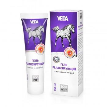 Veda / Веда Гель релаксирующий от усталости, отеков, болезненности лап с мятой и лавандой (в тубе), 100 мл