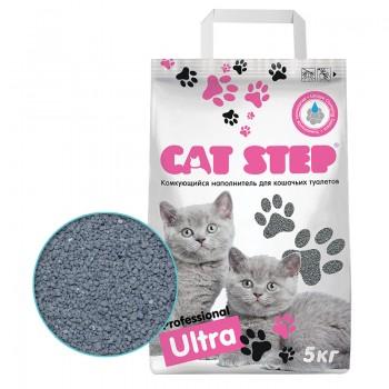 Cat Step / Кэт Степ Наполнитель комкующийся минеральный Professional Ultra, 5 кг