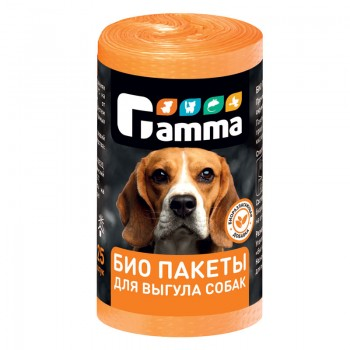 Gamma / Гамма БИО пакеты для выгула собак 25 шт/рулон, 240*360 мм