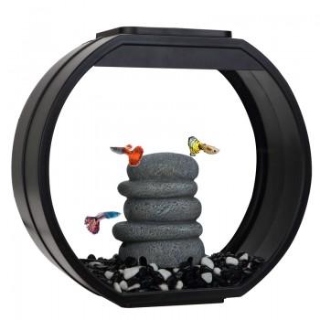"""АА-Aquarium Аквариум """"Deco O Mini UPG"""", 10л, черный, 335*136*310мм"""