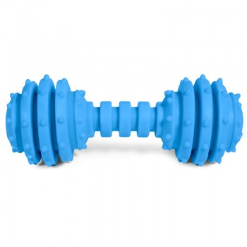 """Triol / Триол Игрушка для собак из резины """"Гантель с двумя колокольчиками"""", 120мм"""