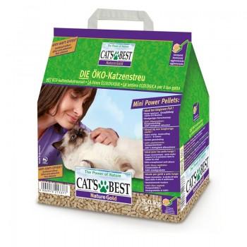 Наполнитель для кошачьих туалетов Cat's Best Smart Pellets 5л*2,5кг, древесный комкующийся