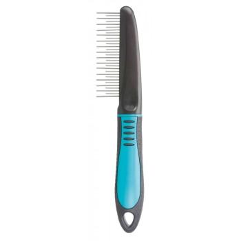 Trixie / Трикси Расчёска с переменным крутящимся зубом, 22 см, пластиковая ручка