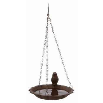 Trixie / Трикси Миска подвесная для птиц, чугун, 250 мл/ф 16 см, коричневый