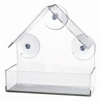 Trixie / Трикси Оконная кормушка для птиц, 225 мл/15 x 15 x 6 см, прозрачный