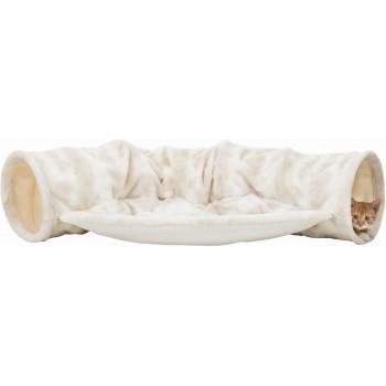 Trixie / Трикси Туннель Nelli для кошки с лежаком,55х27х116 см, бело-коричневый