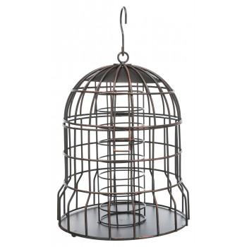 Trixie / Трикси Кормушка для птиц, ф 20 х 25 см, черная/ бронзовая