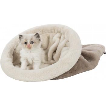 Trixie / Трикси Лежак-тоннель для кошки Amira, ф 30 х 50 см, серо-коричневый / кремовый