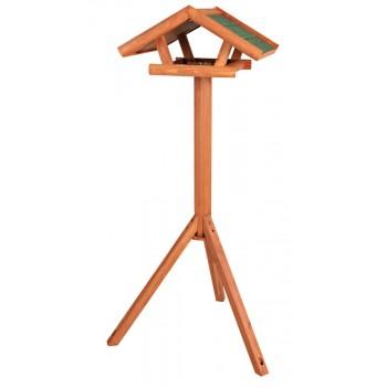 Trixie / Трикси Кормушка уличная на подставке, сосна, 46 х 22 х 44 см/1.15 м, коричневый
