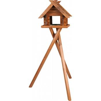 Trixie / Трикси Кормушка для птиц деревянная, 47 х 40 х 36 см/1.40 м, коричневый