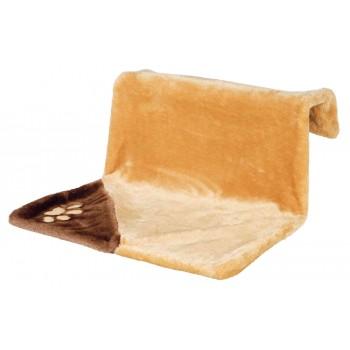Trixie / Трикси Гамак для кошки на радиатор, 45х24х24 см, светло-коричневый/коричневый, плюш