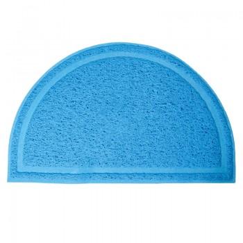 Triol / Триол Коврик для кошачьего туалета полукруглый, голубой, 400*250мм