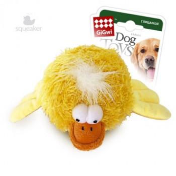 GiGwi / ГиГви Игрушка для собак Утка с пищалкой 12 см, серия PLUSH FRIENDZ