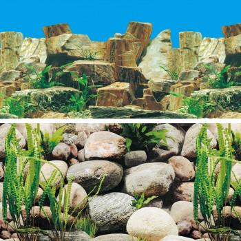 """Laguna / Лагуна Фон 9023/9025, 600*1500мм """"Каменное многоцветье/Русло реки"""""""