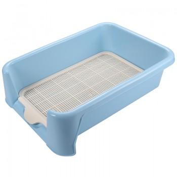 Triol / Триол Туалет P652 для собак (сетка в комплекте), голубой, 520*400*150мм