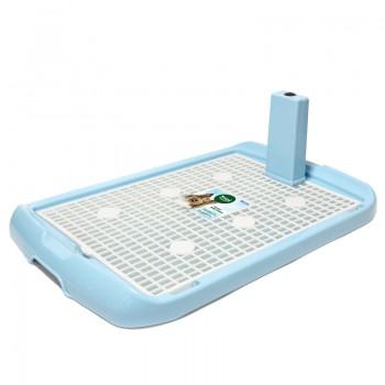 Triol / Триол Туалет PL002 для собак со столбиком, голубой, 600*400*40мм